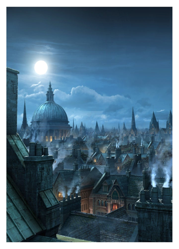 "Image of ""London Rooftops""  Limited Print Edition."