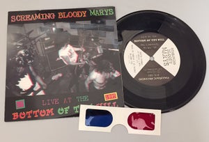 """Image of Screaming Bloody Marys LIVE @ Bottom of the Hill 1995 (3-D ART) 7"""" vinyl - RARE!"""