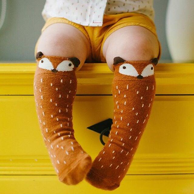 Image of Fox Knee High Socks
