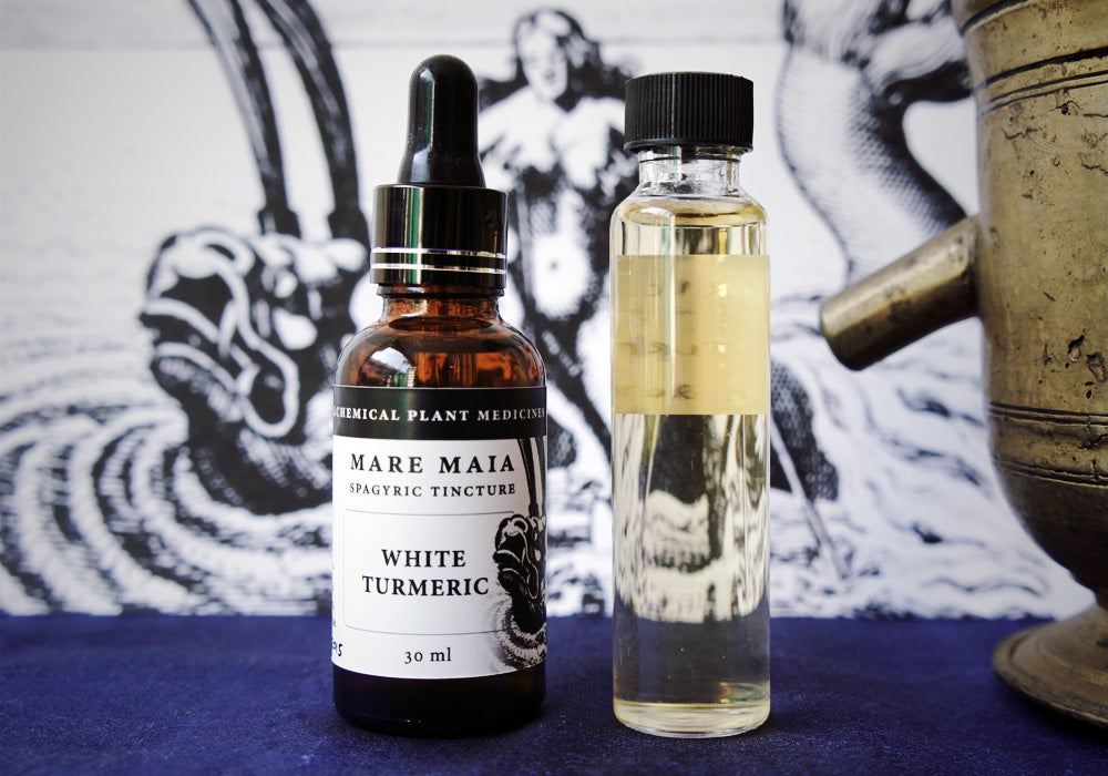 Image of WHITE TURMERIC spagyric tincture - alchemically enhanced plant extraction