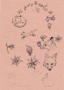 Image of Fox Heavyweight A4 Art print.