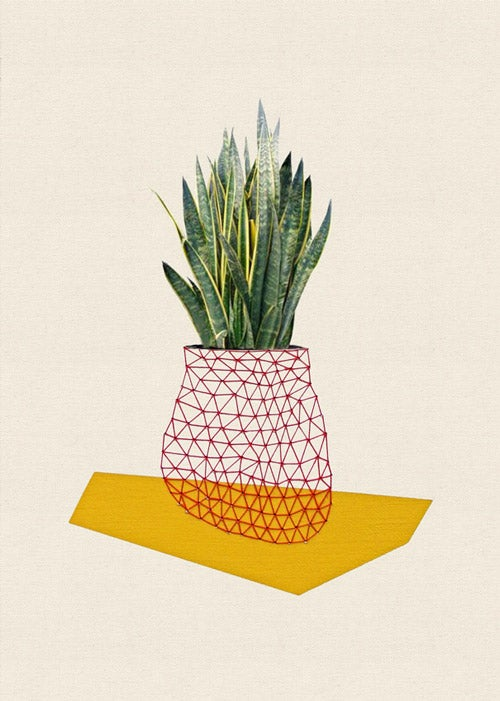 """Image of Print of """"Home and plant/yellow"""""""