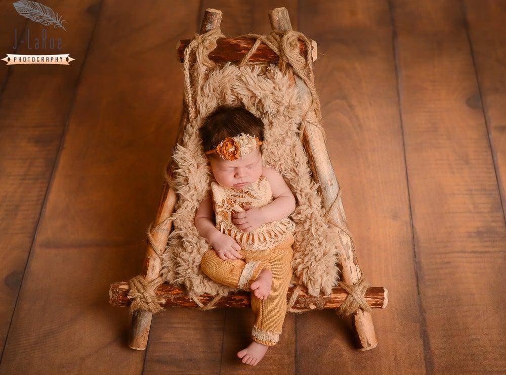 Image of Woodsy Wonders Woodland Adjustable Nesting Lounger, Rustic Newborn Photography Prop