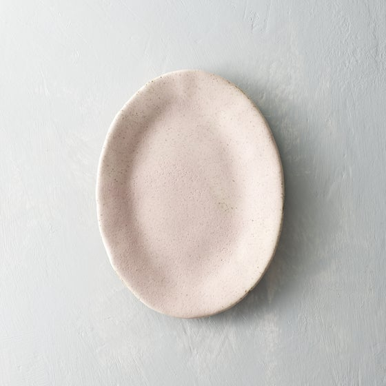 Image of Pale blush speckled platter