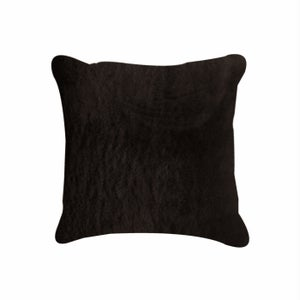 Image of 676685000606 Natural-NELSON SHEEPSKIN- PILLOW  CHOCOLATE