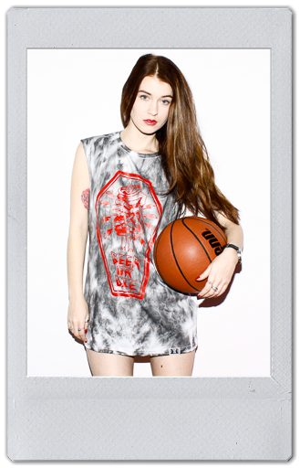 Image of GREY/RED TIE DYE TANK TOP