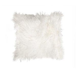 Image of 676685006868 Natural-MONGOLIAN SHEEPSKIN PILLOW-WHITE-