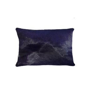 Image of 676685025500 Natural-TORINO-COWHIDE-PILLOW - PURPLE