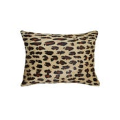 Image of 676685025647 Natural-TORINO-COWHIDE-PILLOW-LEOPARD