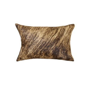 Image of 676685025685 Natural-TORINO-COWHIDE-PILLOW - CLASSIC BRINDLE