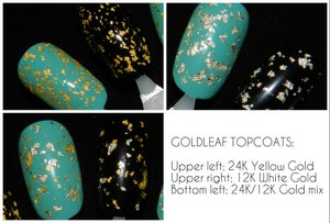 Image of gLORIous Spectraflair and Goldleaf Topcoats