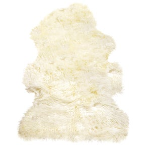 Image of 676685001825 Natural-NEW ZEALAND SHEEPSKIN-CURLY-SINGLE-OFFWHITE