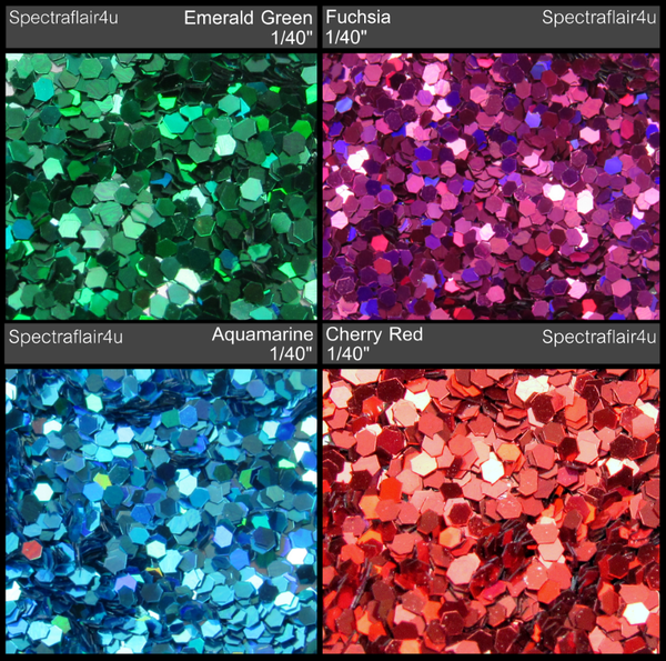 """Image of Holoflake Glitter  <p> .025"""" (1/40"""") </p> 4 Colors Available"""