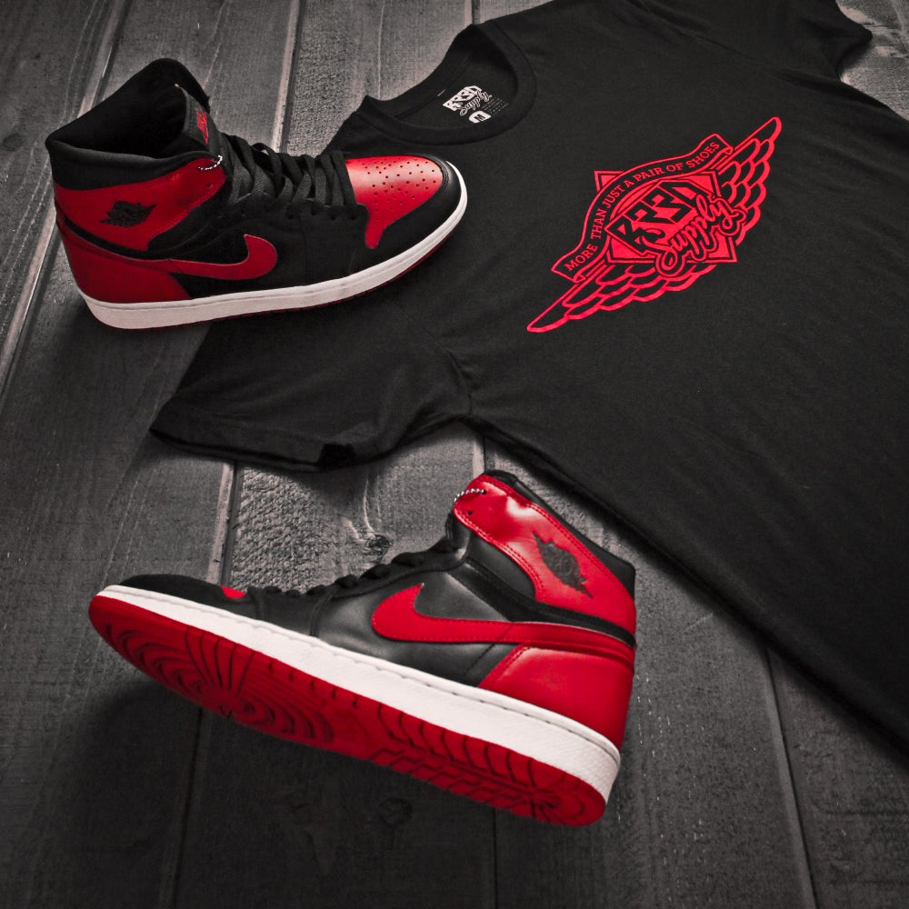 "Image of ""Just Shoes"" - Black/Red"