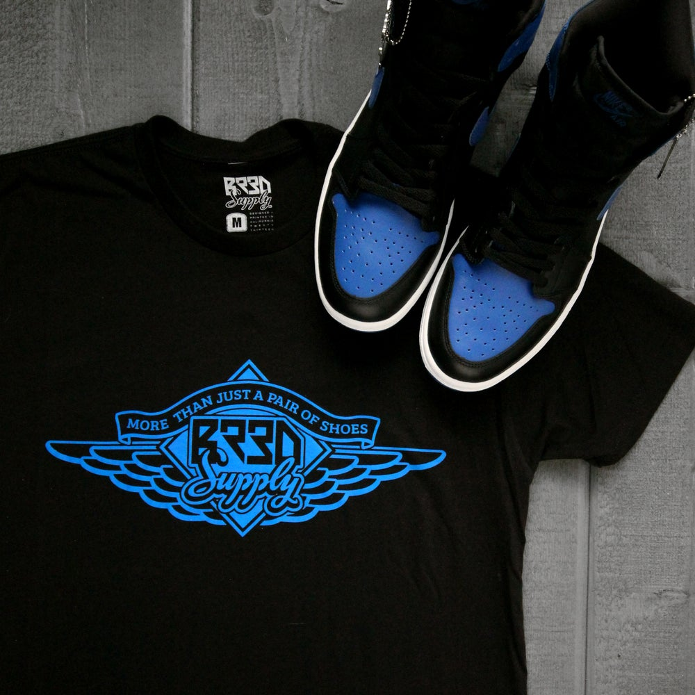 "Image of ""Just Shoes""  Black/Blue"
