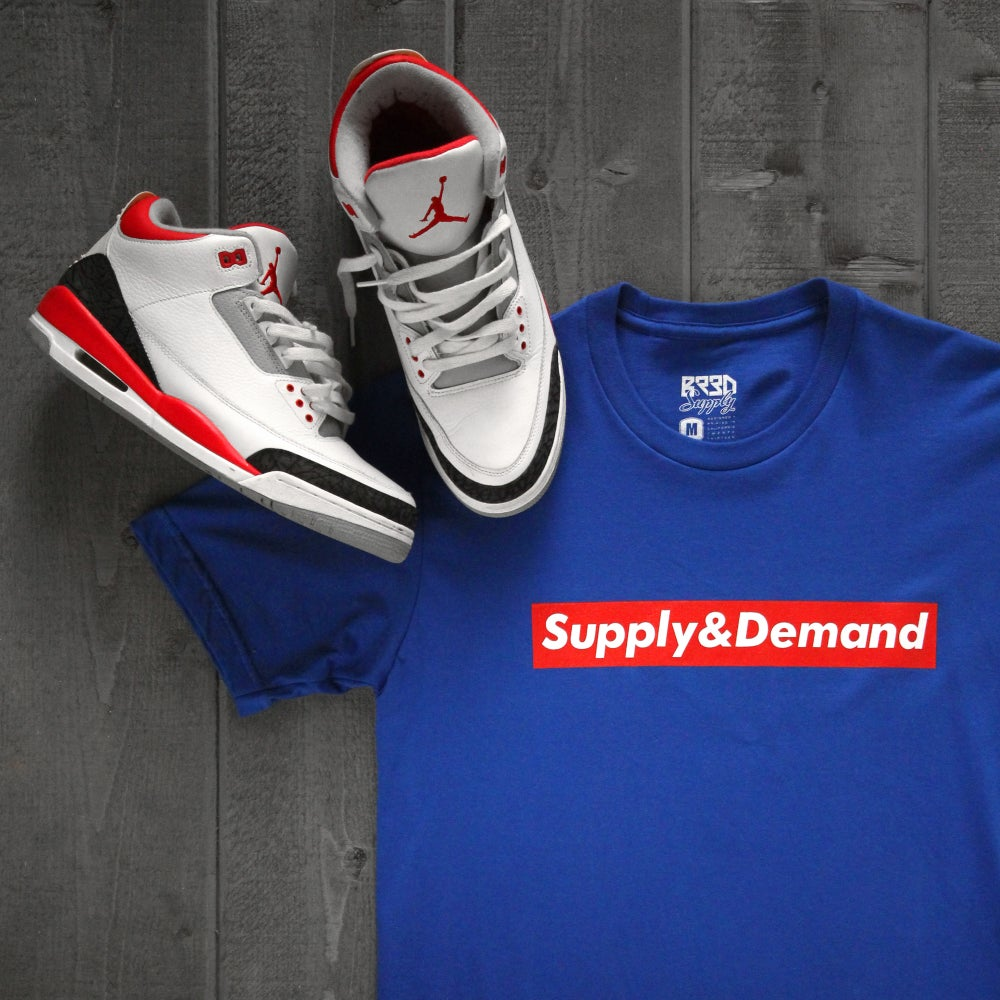 "Image of ""Supply & Demand"" Shirt - Blue"