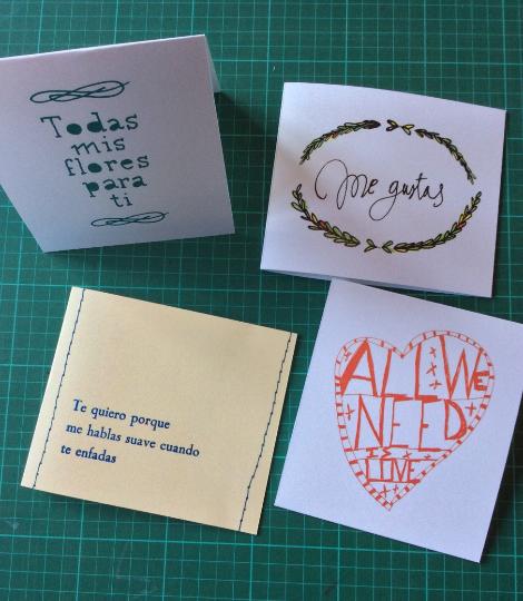 Image of Pack: 4 tarjetas ilustradas (I)