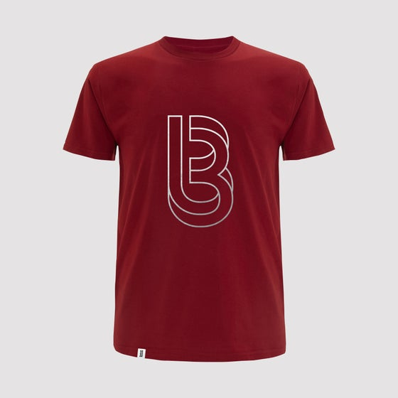 Image of Bedrock Re:Structured Mens T Shirt in Stereo Red