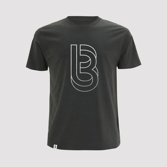 Image of Bedrock Re:Structured Mens T Shirt in Charcoal Grey