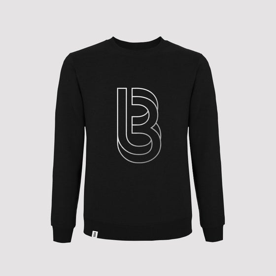 Image of Bedrock Re:Structured Mens Crewneck Sweatshirts in Black