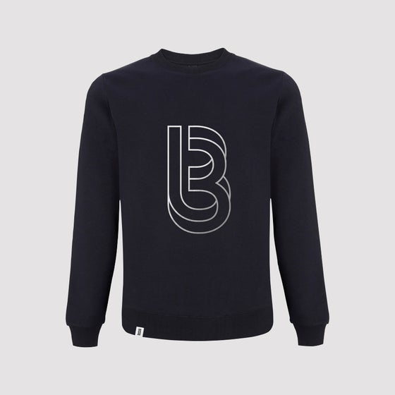 Image of Bedrock Re:Structured Mens Crewneck Sweatshirts in Navy