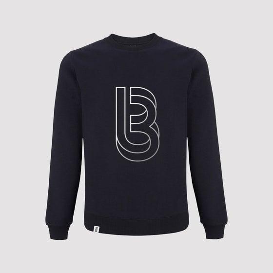 Image of Bedrock Re:Structured Mens Crewneck Sweatshirts in Navy pre-order