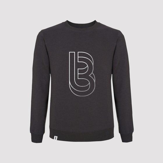 Image of Bedrock Re:Structured Mens Crewneck Sweatshirt in Dark Grey pre-order