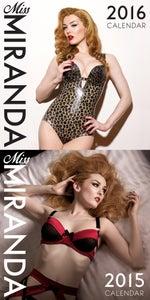 Image of Miss Miranda 2015 & 2016 calendar bundle - SIGNED