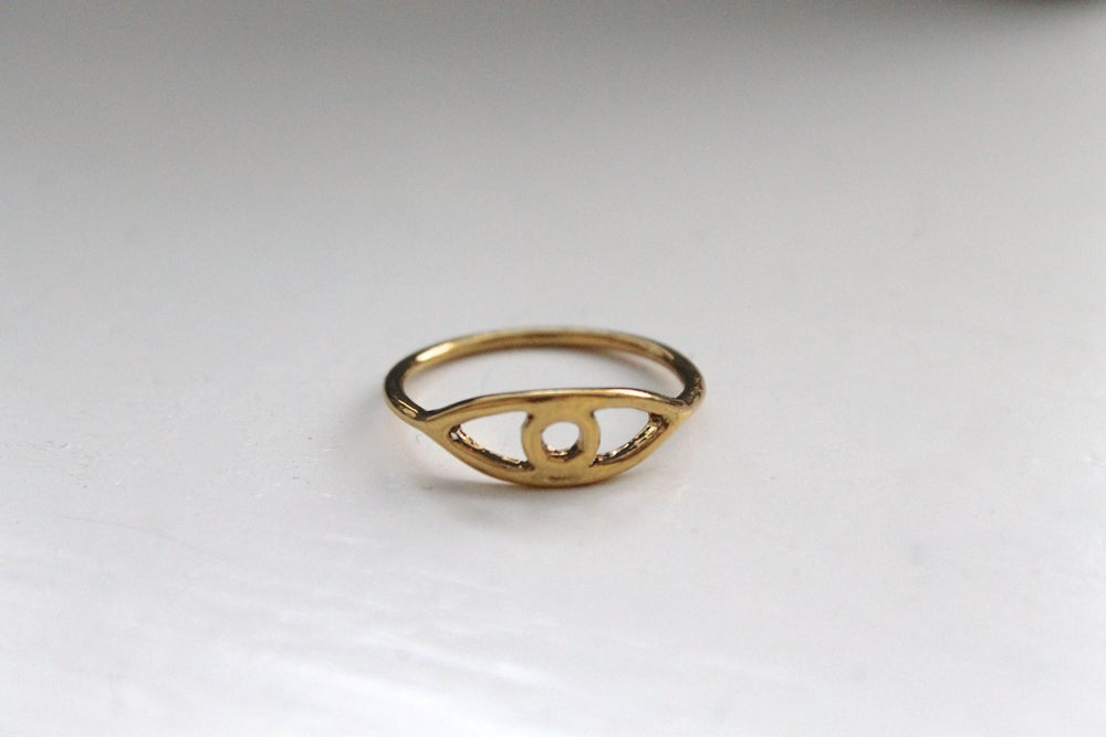 Image of Gold Evil Eye Stacking Ring (Originally $8)