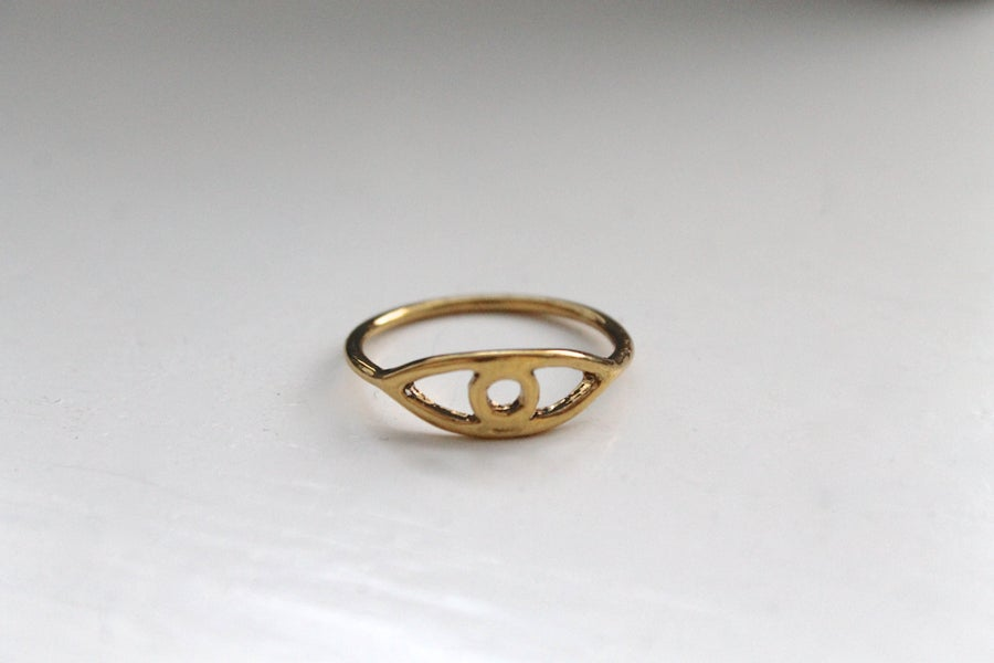 Image of Gold Evil Eye Stacking Ring