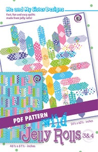 Image of Wild Jelly Rolls 3 & 4 PDF pattern