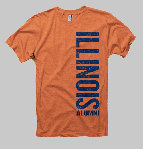 Image of Illinois Left Coast Alumni Tee - Orange