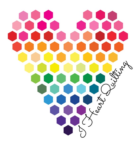 Image of Rainbow Hexy Heart Sticker Set of 4