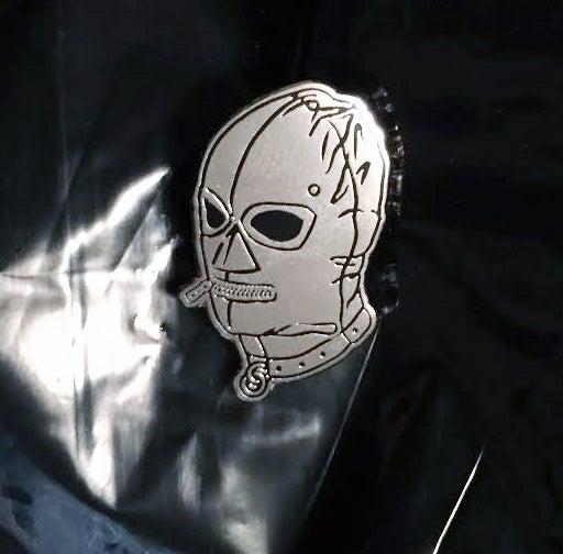 Image of silver GIMP MASK pin