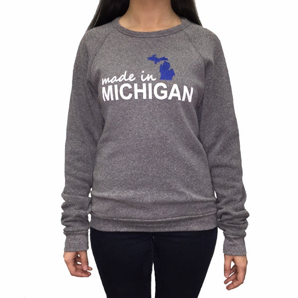 Image of Made In Michigan Unisex Crew Neck Sweatshirt