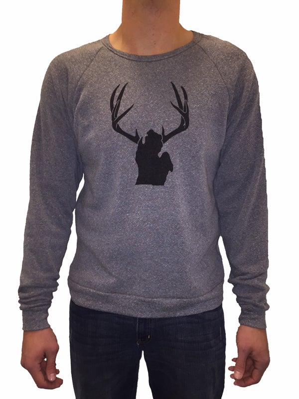 Image of Michigan Antlers Unisex Crew Neck Sweatshirt