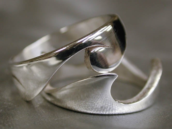 """Image of """"Two Piece Wave"""" Ring - Sterling Silver"""