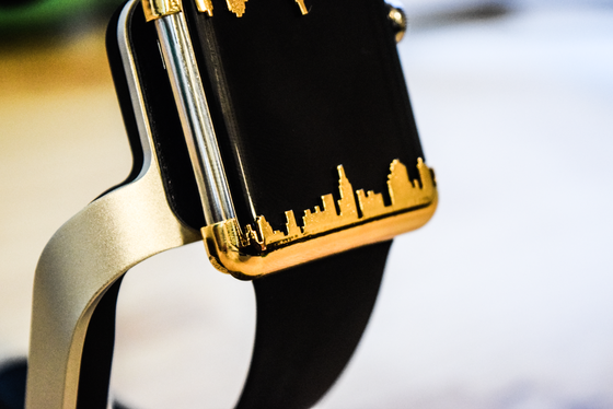 Image of Apple Watch Caps - Ny skyline Gold