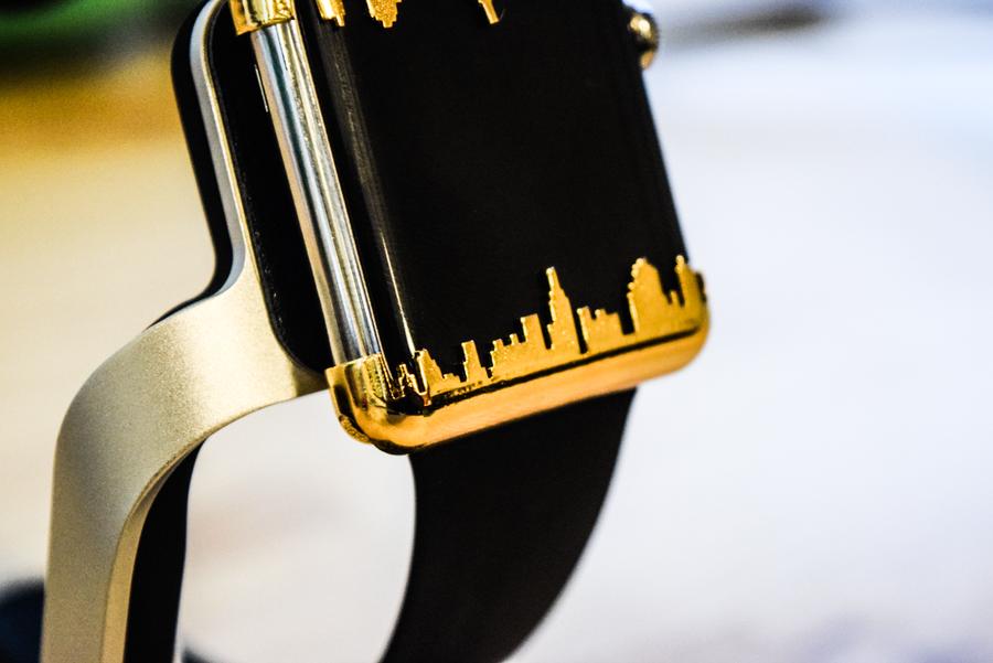 Image of Apple Watch Caps - Ny skyline Gold