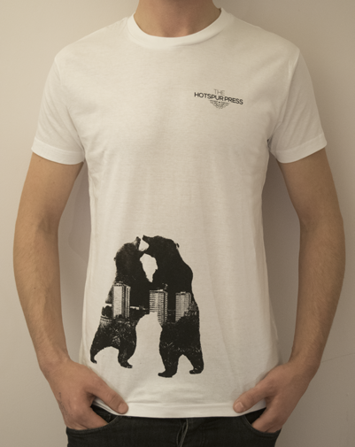 Image of 'Bear Fight' T-Shirt (White)