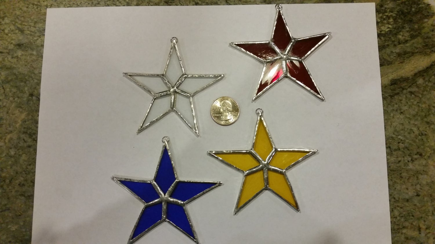 Image of Mini Star Set- stained glass
