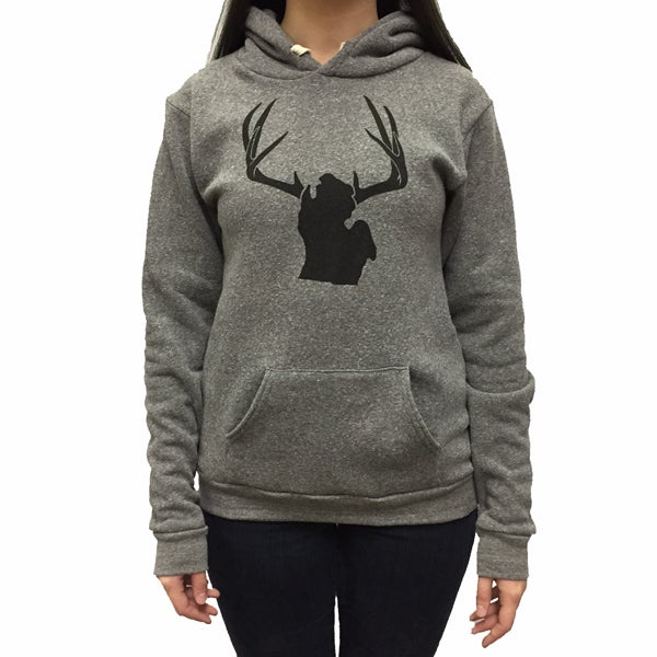 Image of Michigan Antlers Unisex Hooded Sweatshirt