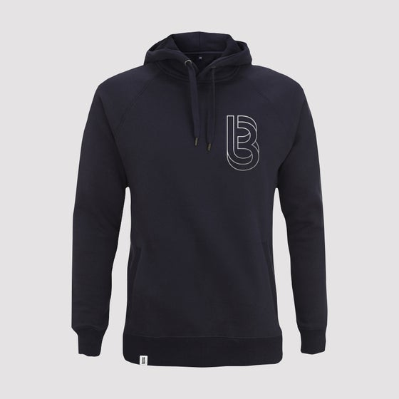 Image of Bedrock Re:Structured Mens Pullover Hoodie in Navy