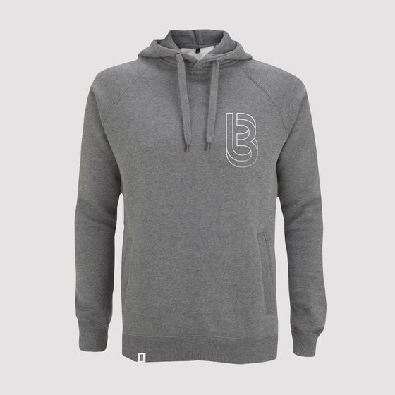 Image of Bedrock Re:Structured Mens Pullover Hoodie in Dark Heather
