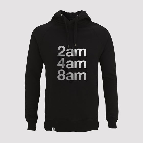 Image of Bedrock 2am 4am 8am Mens Pullover Hoody in Black