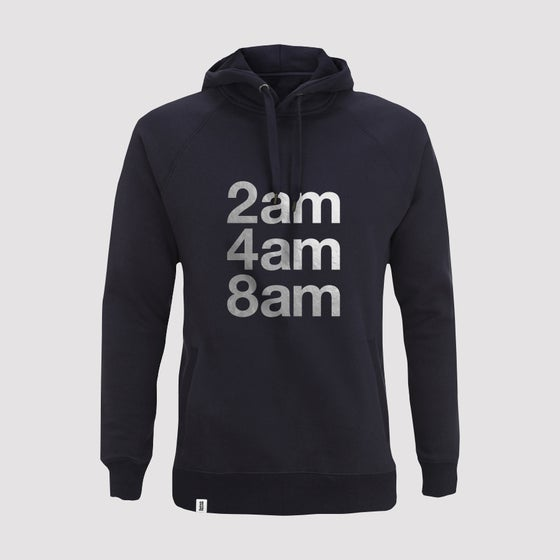 Image of Bedrock 2am 4am 8am Mens Pullover Hoody in Navy