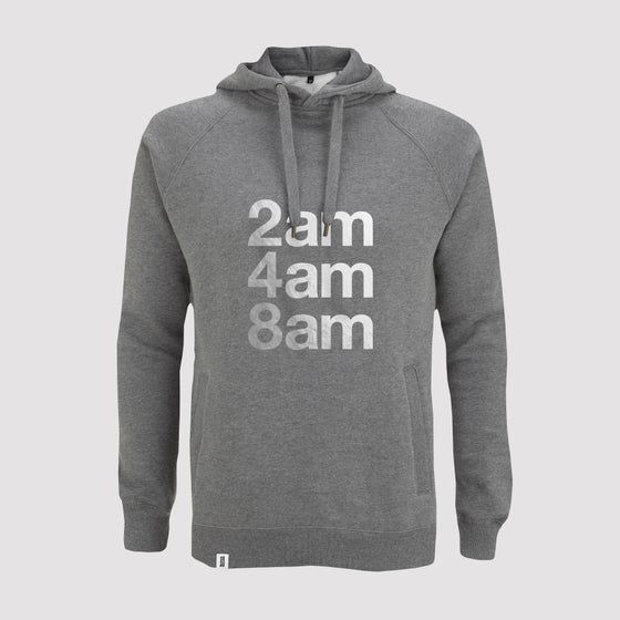 Image of Limited Edition Bedrock 2am 4am 8am Mens Pullover Hoody in Dark Heather