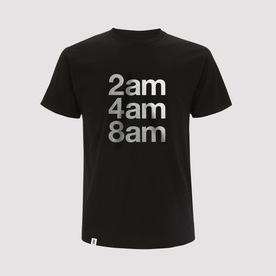 Image of Bedrock Restock on 2AM 4AM 8AM Mens Shirts in Black [PRE-ORDER]