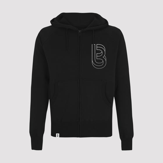 Image of Bedrock Re:Structured Mens Zipped Hoodie in Black (SOLD OUT)