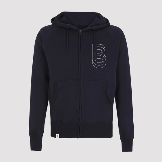 Image of Bedrock Re:Structured Mens Zipped Hoodie in Navy (SOLD OUT)